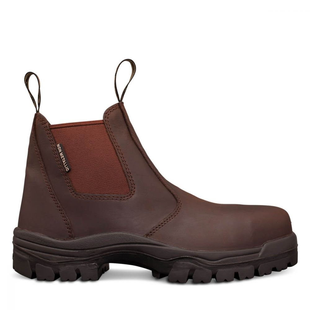 f3d9d1689a1 Brown Elastic Sided Boot