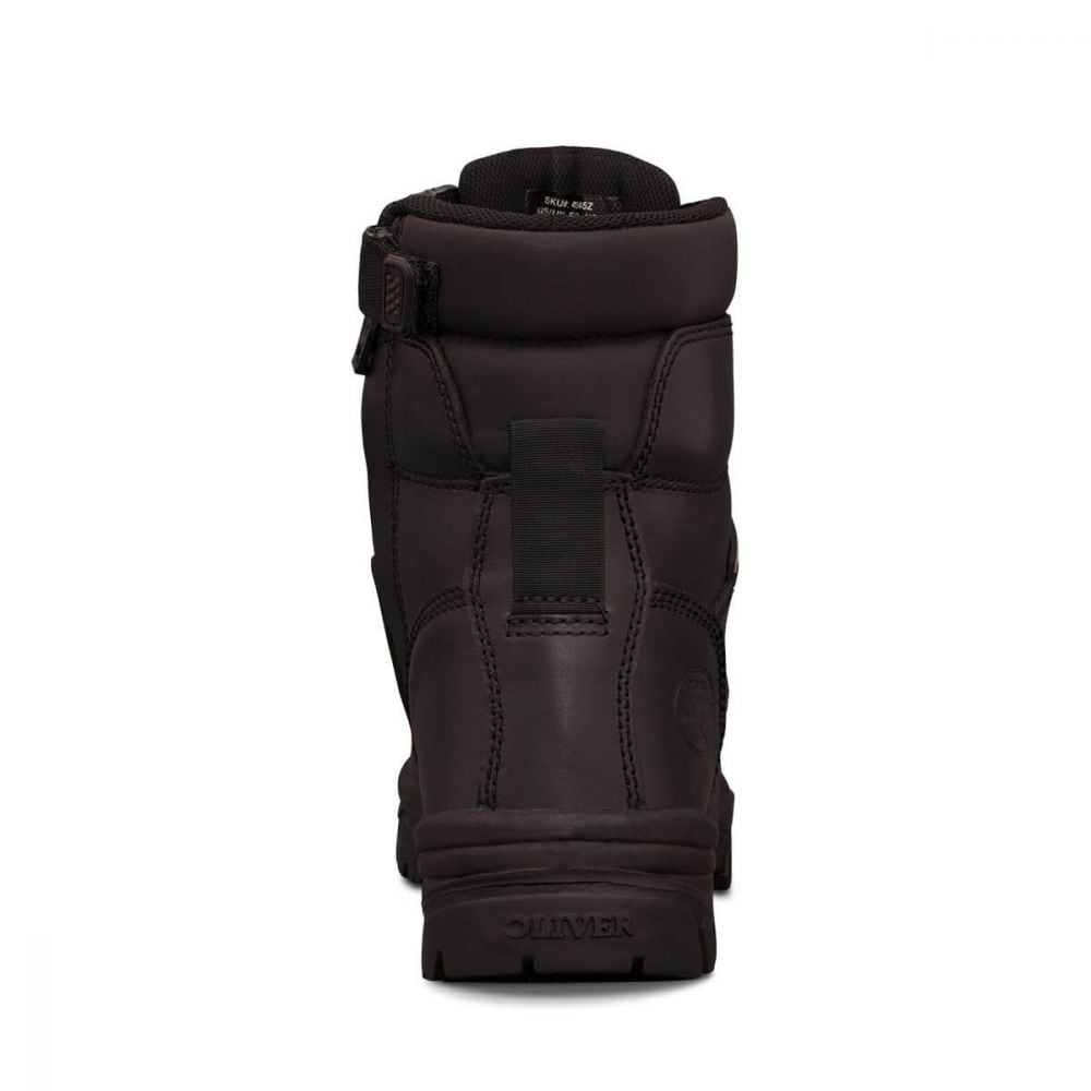aabbc964e4e 150mm Black Zip Sided Boot   AT 45 Series   Oliver Footwear