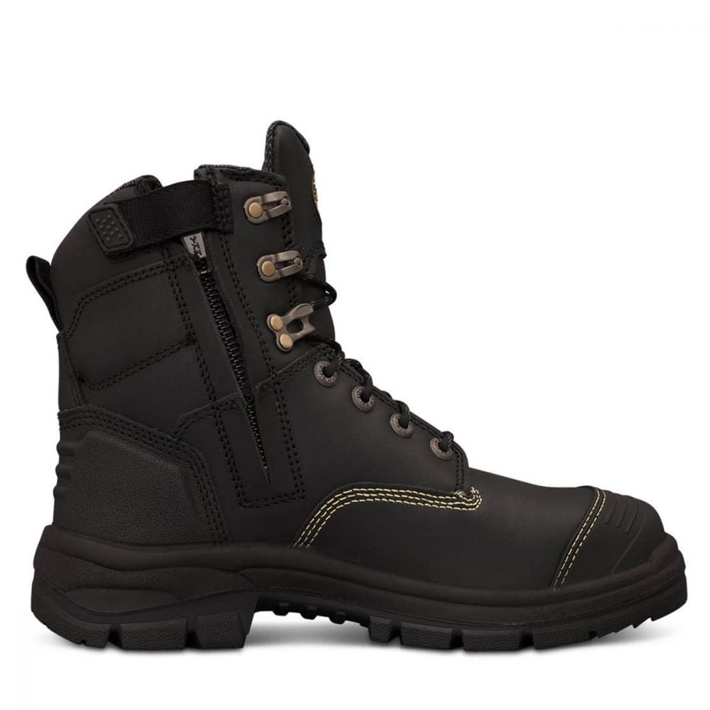 4582bfea05f 150mm Black Zip Sided Boot | AT 55 Series | Oliver Footwear