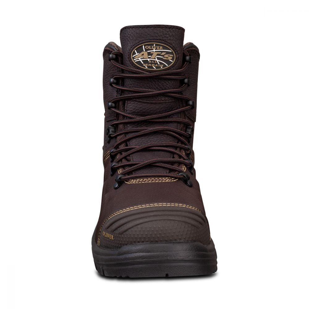 150mm Brown Lace Up Boot   AT 65 Series