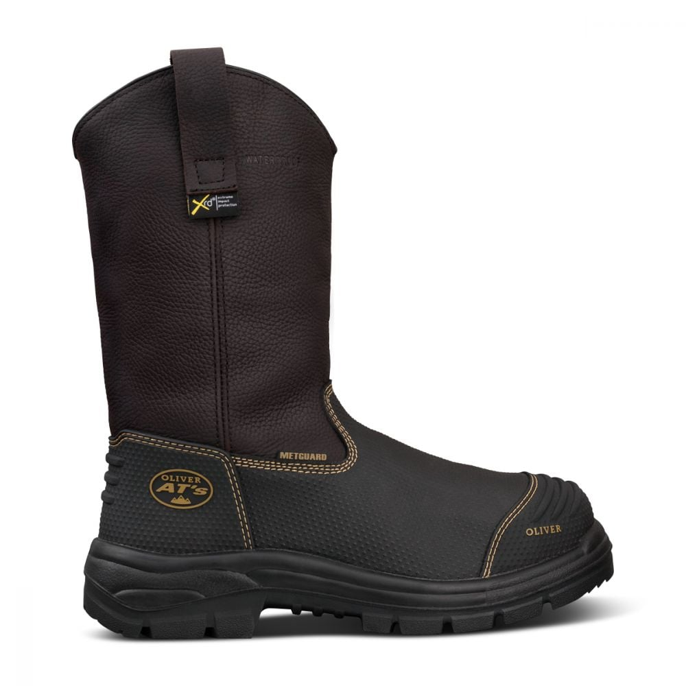 8f427847a1f 240mm Brown Pull On Riggers Boot Waterproof| AT 65 Series | Oliver ...