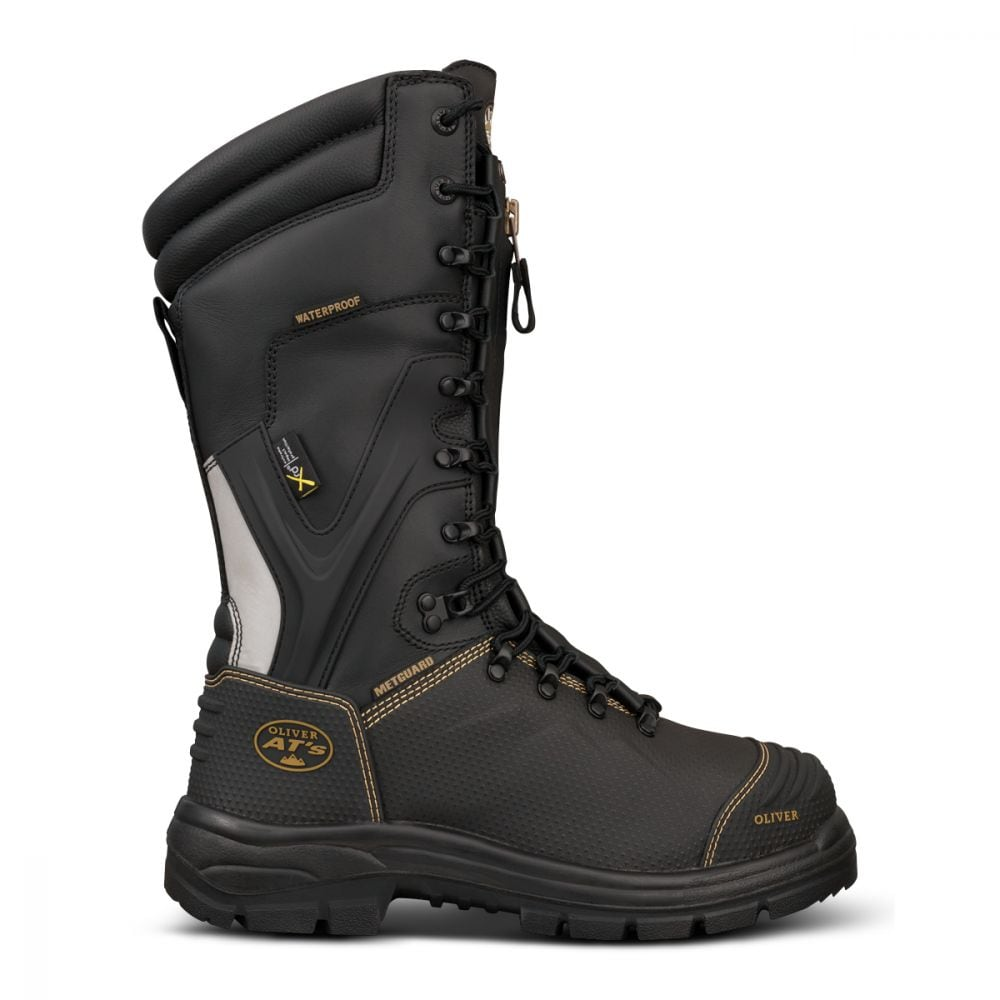 ad8b28c2ecb 350mm Black Lace In Zip Mining Boot | AT 65 Series | Oliver Footwear