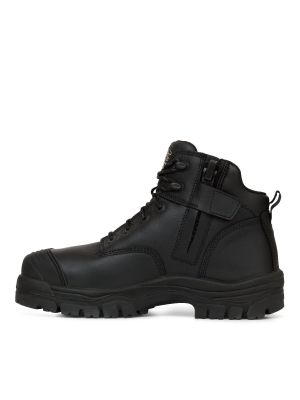 130mm Black Zip Sided Hiker Boot