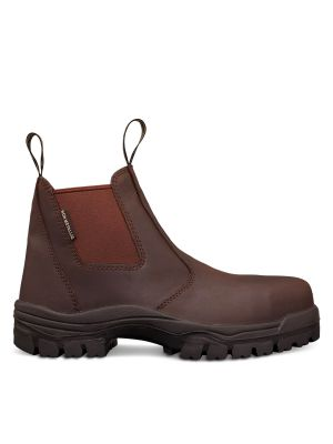 Brown Elastic Sided Boot