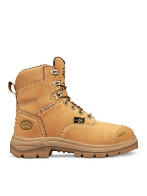 150mm Wheat Lace Up Met Boot