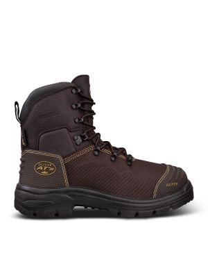 150mm Brown Lace Up Boot - Waterproof & Caustic Resistant