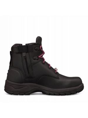Women's Black Zip Sided Boot