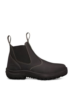 Black Elastic Sided Boot