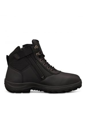 140mm Black Zip Sided Boot