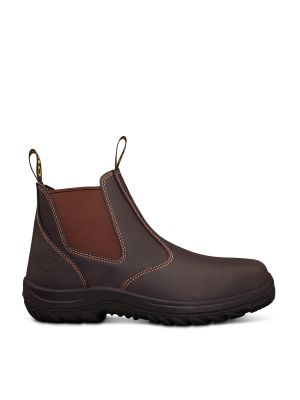 Claret Elastic Sided Boot With Penetration Protection