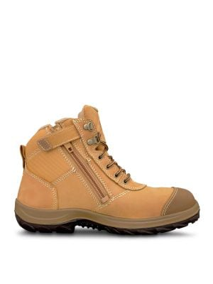Wheat Zip Sided Ankle Boot