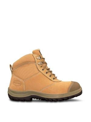 Wheat Zip Sided Ankle Boot with Penetration Protection